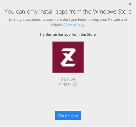 install windows 10 keep programs prevent installing apps from outside windows store in