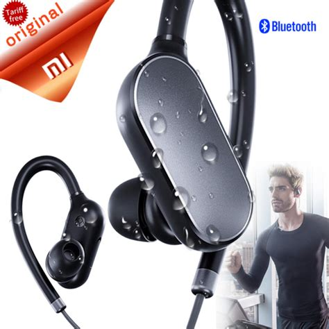 Xiaomi Mi Sports Bluetooth Wireless Headset Waterproof Earphone Hitam original xiaomi mi bluetooth earphone headset with mic