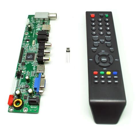 universal lcd controller board tv motherboard vga hdmi av tv usb black