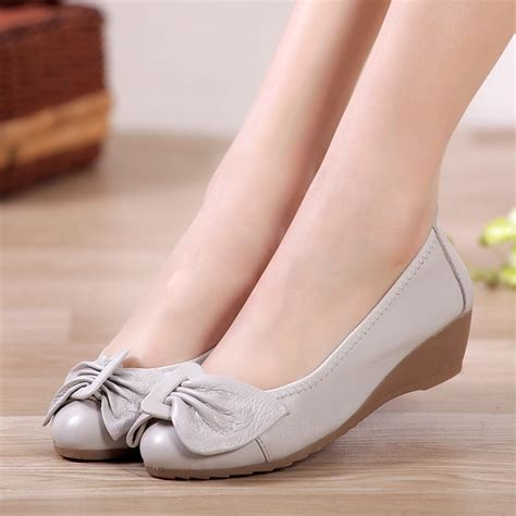 comfortable shoes for woman 2015 new women genuine leather flat shoes woman