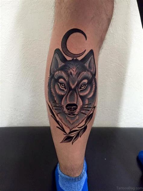 tattoos on thigh 41 marvelous wolf tattoos for leg