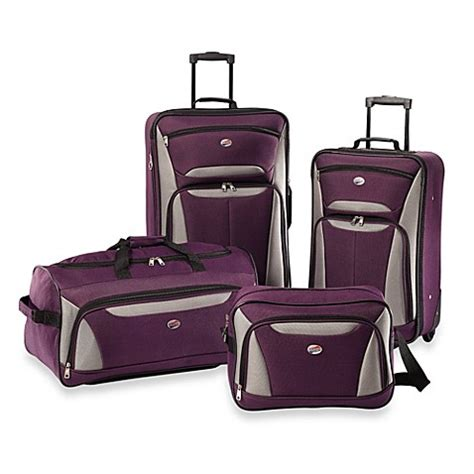 bed bath and beyond suitcases american tourister 174 fieldbrook ii 4 piece rolling luggage