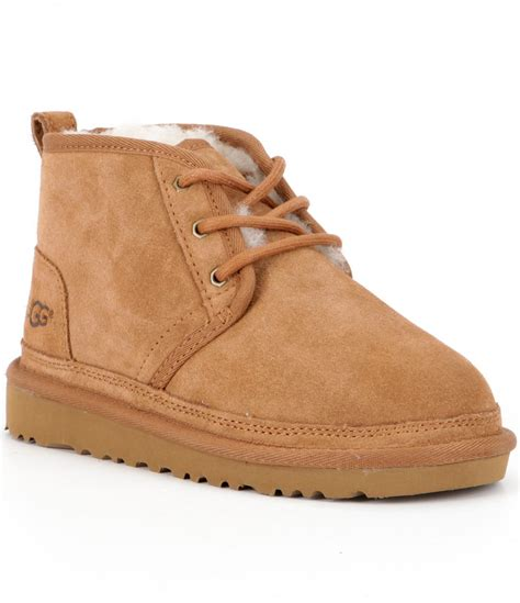 ugg boot sneakers ugg 174 boys neumel suede boots dillards