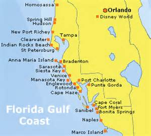 florida west coast beaches map florida gulf of mexico map