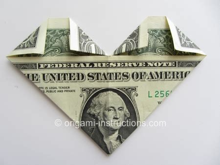 Origami Out Of A Dollar - how to make origami out of money easy money origami