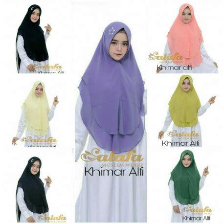 Pusat Grosir Baju Muslim Nariyah Syari Wolpeach khimar syari khimar alfi by salafa pusat grosir baju muslim