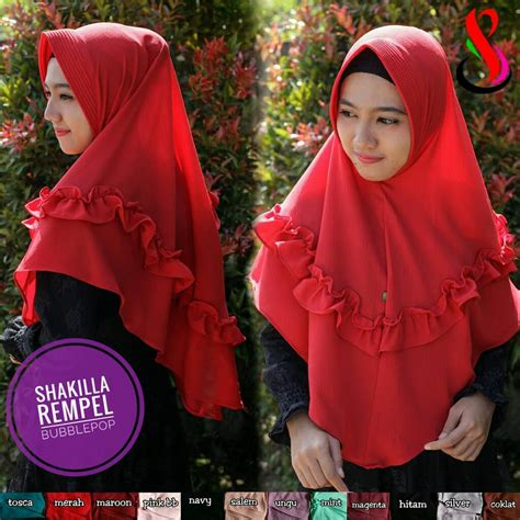 Kerudung Bergo Jilbab Jersey Rempel Warna jilbab shakilla rempel sentral grosir jilbab kerudung i supplier jilbab i retail grosir