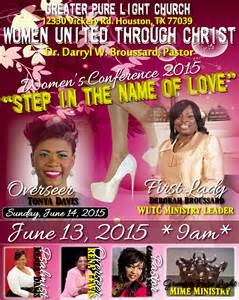 women s conference step in the name of love greater