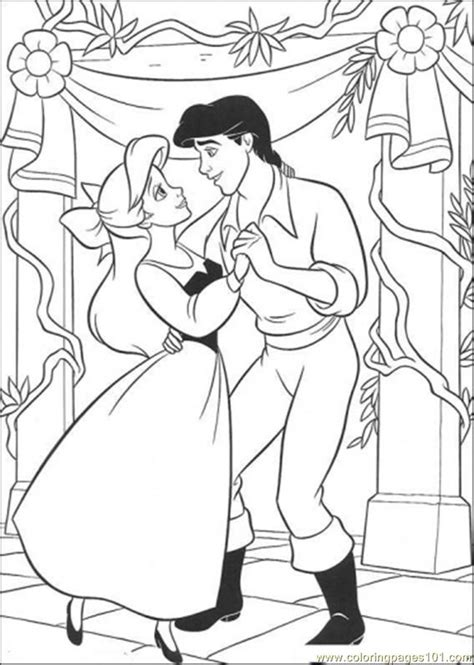 Coloring Pages Ariel And Eric Are Dancing Cartoons Gt The Ariel And Eric Coloring Pages