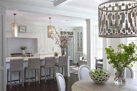 Island Tables For Kitchen With Stools white kitchen with gray folio top grain leather bar stools