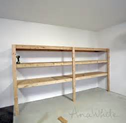 ana white easy and fast diy garage or basement shelving diy garage storage plans image mag