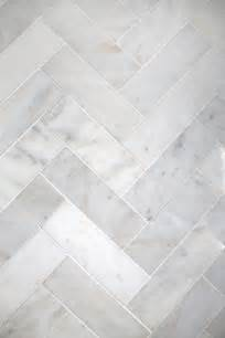 try this herringbone marble tile a beautiful mess