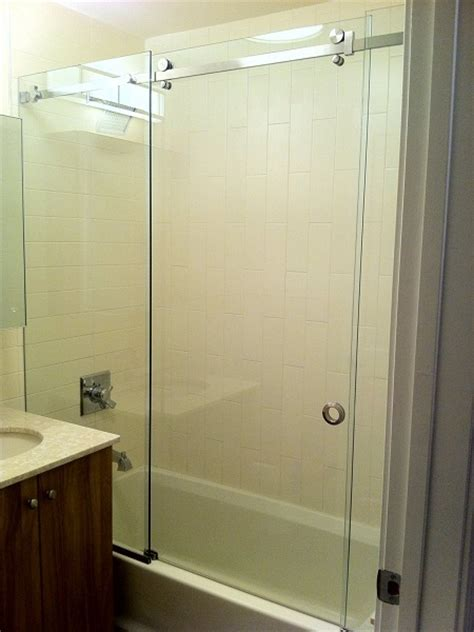 Sliding Glass Shower Door by Bypass Sliding Shower Doors Modern Glass Designs