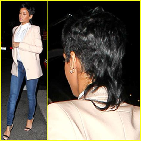 rihanna fashion killa hairstyle rihanna rocks mullet hairstyle for giorgio baldi dinner