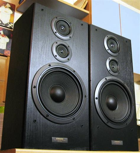 pioneer cs 7030 bookshelf speakers vintage electronics