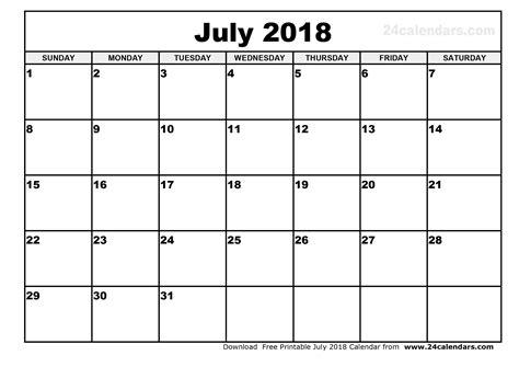 printable july 2018 calendar july 2018 calendar printable happyeasterfrom com
