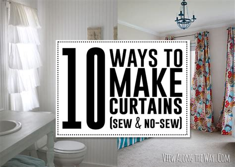 how to make simple curtains without a sewing machine 10 ways to make curtains sew no sew