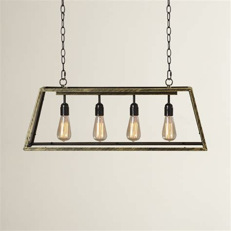 Kitchen Lighting Pendants Trent Design Suisun City 4 Light Kitchen Island Pendant Reviews Wayfair