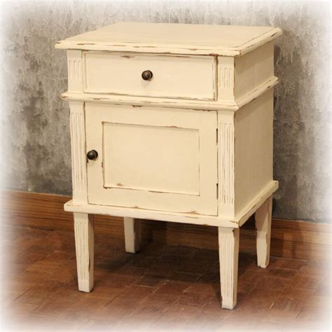 How To Antique Painted Furniture by How To Antique Furniture White Painted Bedside