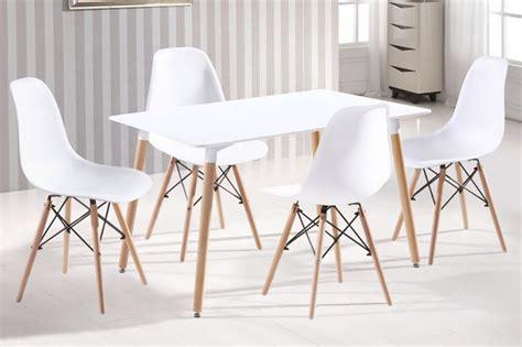 decorar oficina rectangular mesa comedor rectangular y cuatro sillas tower modelo vintage
