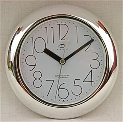 bathroom clocks amazon amazon com water resistant wall clock with quiet sweep
