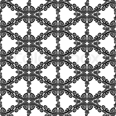 vintage pattern black and white vector abstract damask background black and white fashion