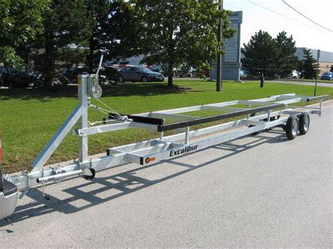 pontoon boat trailer types pontoon trailers new 2013 excalibur 24 scissor pontoon