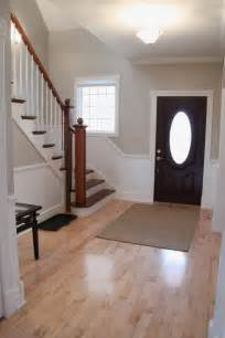 Sherwin Williams Realist Beige updated foyer with accessible beige by sherwin williams