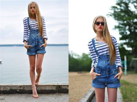 Overall Stripe Blouse dominica justyna h m overall zara striped blouse leopard cat eye sunglasses overall