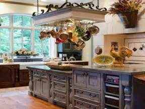 charming White French Country Kitchen #2: french-country-kitchen-pot-racks-little-french-country-kitchens.jpg