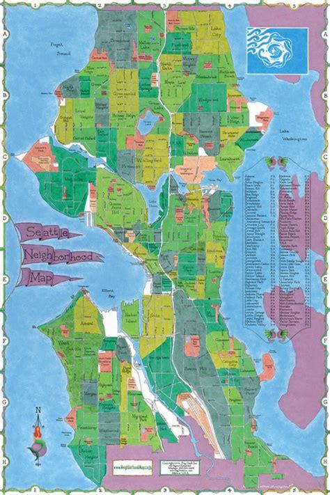 Neighborhoods In Map Seattle Neighborhood Map Seattle Mappery