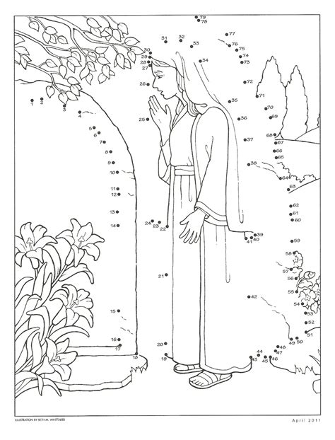 lds coloring pages easter happy clean living primary 2 lesson 45 easter