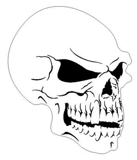 skull stencil template skull 7 reduced human airbrush stencil template ebay