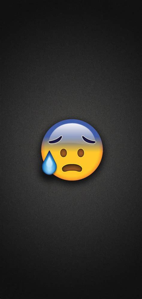 cold sweat emoji phone wallpaper
