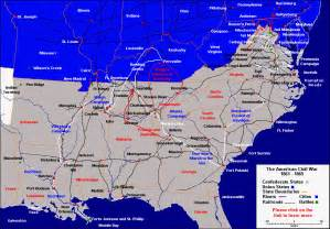 civil war battles in map map of civil war battles