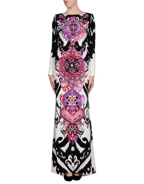 Emilio Pucci Dress emilio pucci dress in purple black lyst