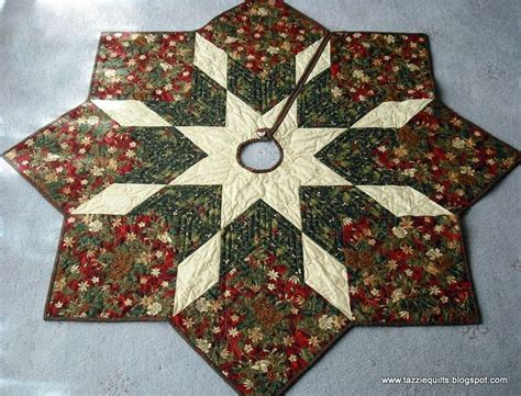 quilted christmas tree skirt pattern tazzie quilts