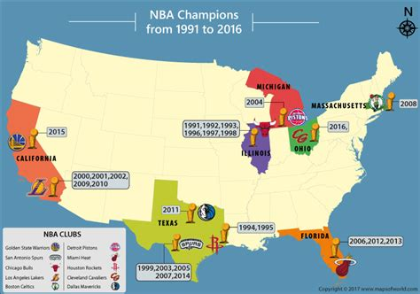 nba usa map best nba teams nba chions