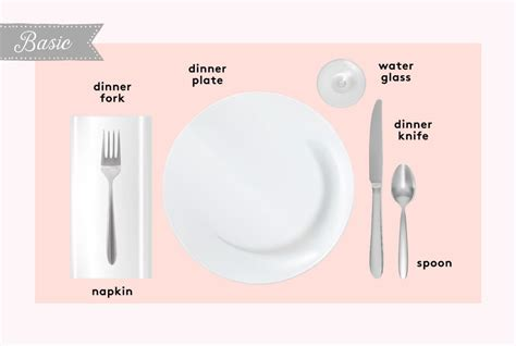 simple table setting how to set a table basic casual and formal table