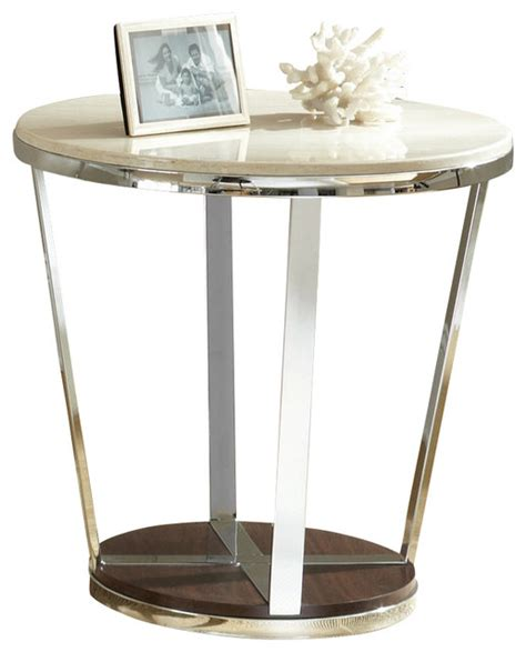 Silver Side Table Steve Silver Bosco 24 Inch Faux Marble End Table Contemporary Side Tables And End