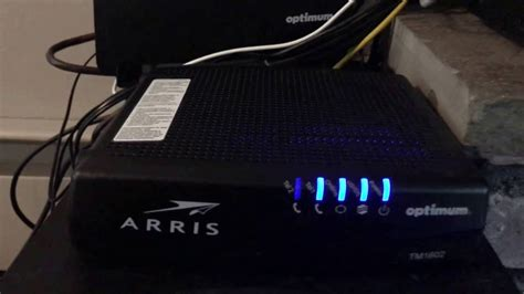 reset optimum online password arris modem lights tm1602 decoratingspecial com