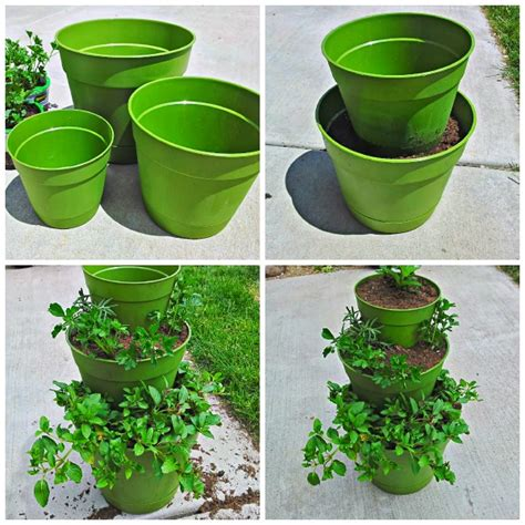 Herb Garden Planter Container by Diy How To Make A Tiered Planter For Flowers And Herb Gardens