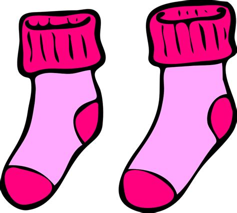 free vector graphic socks pink winter warm