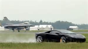 Lamborghini Vs Jet F16 Jet Vs Lambo Aventador Top Gear