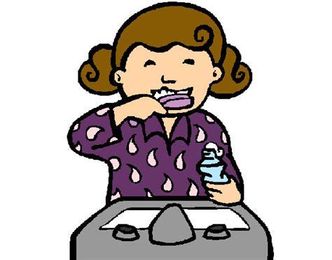 dibujo de ni a cepill ndose los dientes para colorear dibujo de ni 241 o cepillandose los dientes para colorear imagui