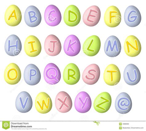 printable easter alphabet letters alphabet pastel easter egg fonts royalty free stock images