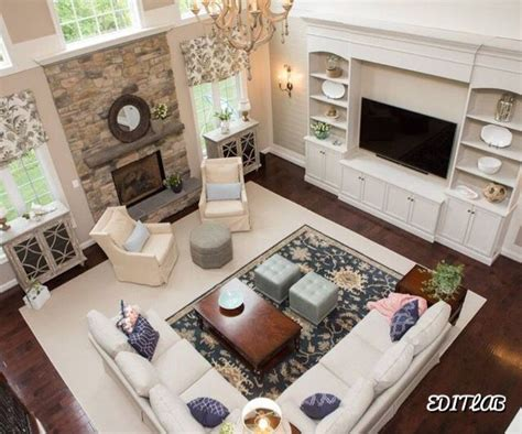 family room with sectional and fireplace this is the the layout yessss with tv and fireplace on