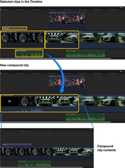 final cut pro compound clip final cut pro x create and break apart compound clips