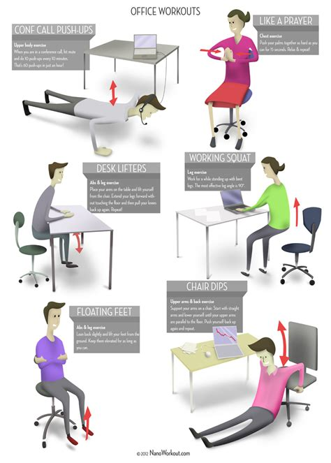 Office Workouts At Desk Office Workouts Poster