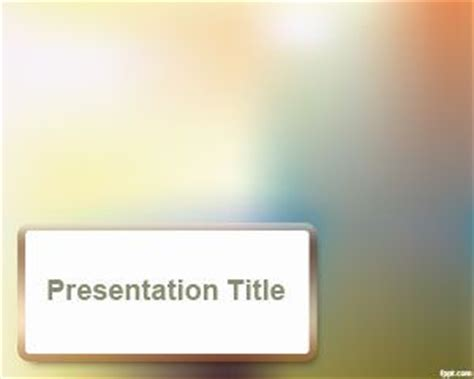 Blur Effect Powerpoint Template Ppt Template Fancy Powerpoint Templates